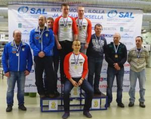 RS med laget Krister Holmberg, Niklas Hyvärinen och Henrik Holmberg fick silver på normallopeen och blandloppen i FM på 10m rörligt mål i Åbo 13-14.2.2016